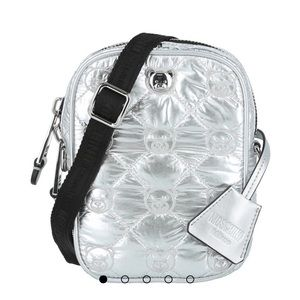 Silver Moschino quilted crossbody bag